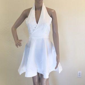 Fashion Nova white halter dress